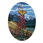 Butterfly Ornament Landscape Painting Keepsake