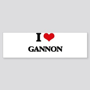 I Love Gannon Bumper Sticker