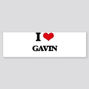 I Love Gavin Bumper Sticker