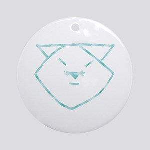 Cloudy Anime Cat Ornament (Round)