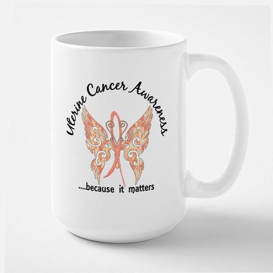 Uterine Cancer Butterfly 6.1 Large Mug