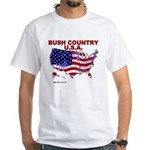 Bush Country USA (County) White T-Shirt