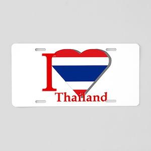 I love Thailand Aluminum License Plate