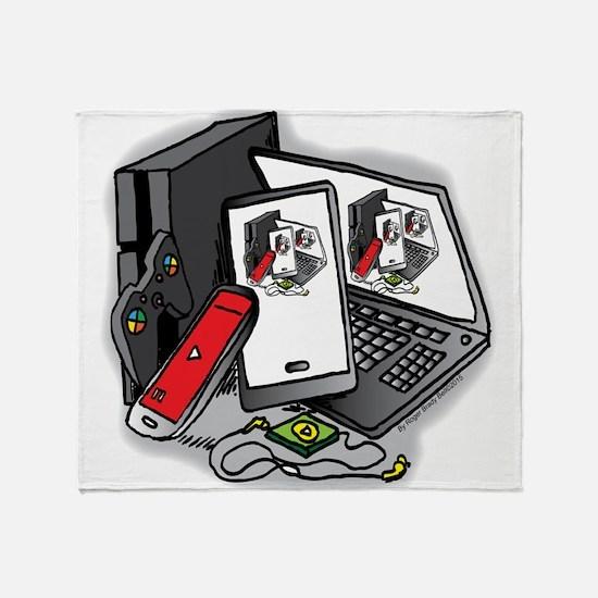 Tech Frenzy 2015 Throw Blanket