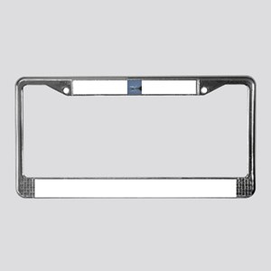 great white egret License Plate Frame