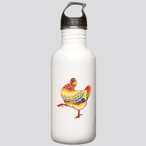 Vintage Chicken Stainless Water Bottle 1.0L