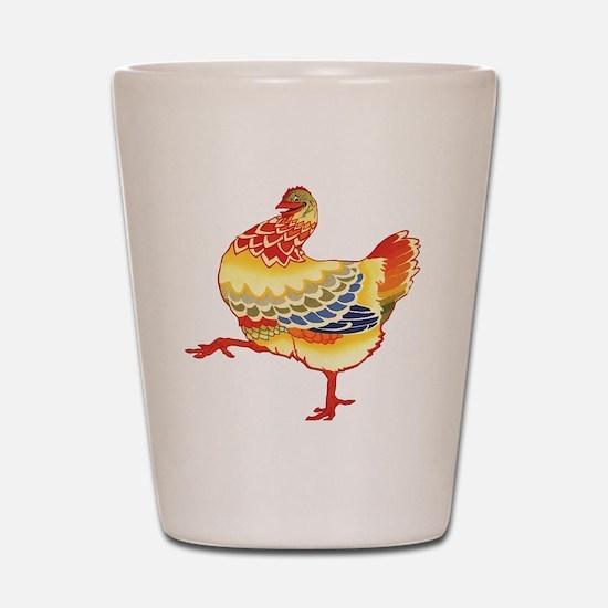 Vintage Chicken Shot Glass