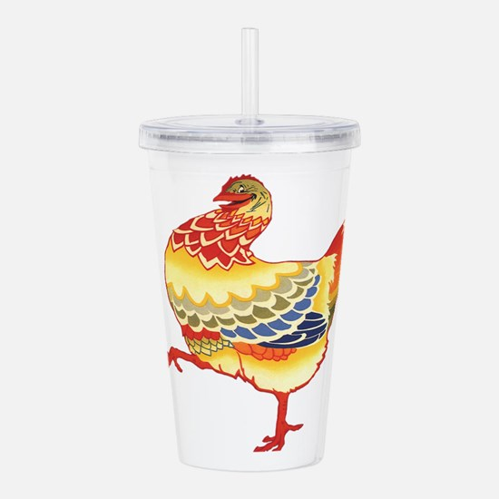 Vintage Chicken Acrylic Double-wall Tumbler