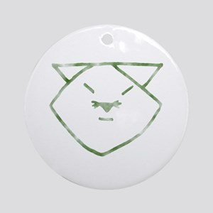 Country Anime Cat Ornament (Round)