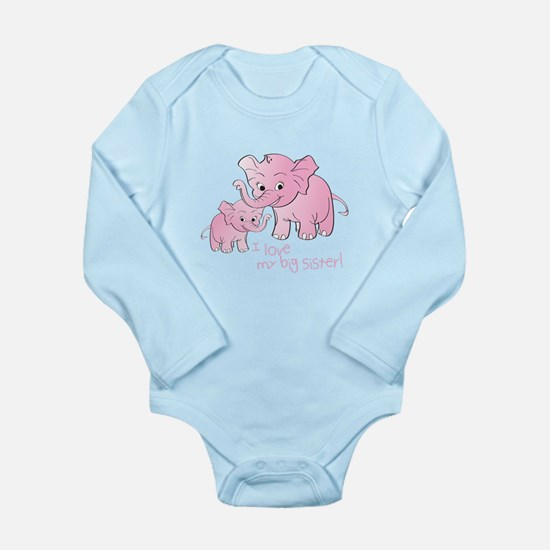 Big Sister & Little Sister Elephants Body Suit