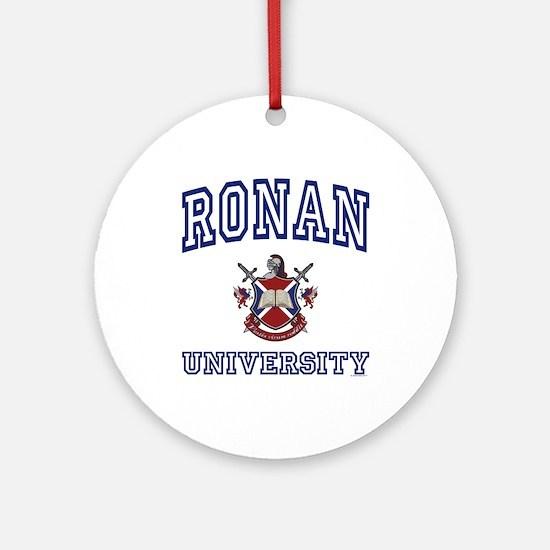 RONAN University Ornament (Round)