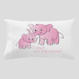 Big Sister & Little Sister Elephants Pillow Case