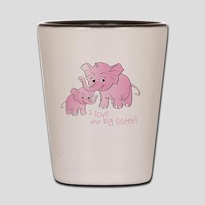 Big Sister & Little Sister Elephants Shot Glass