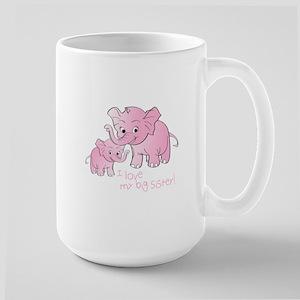 Big Sister & Little Sister Elephants Mugs