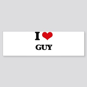 I Love Guy Bumper Sticker
