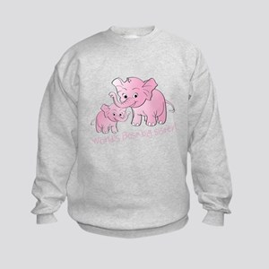 Big Sister & Little Sister Elephan Kids Sweatshirt