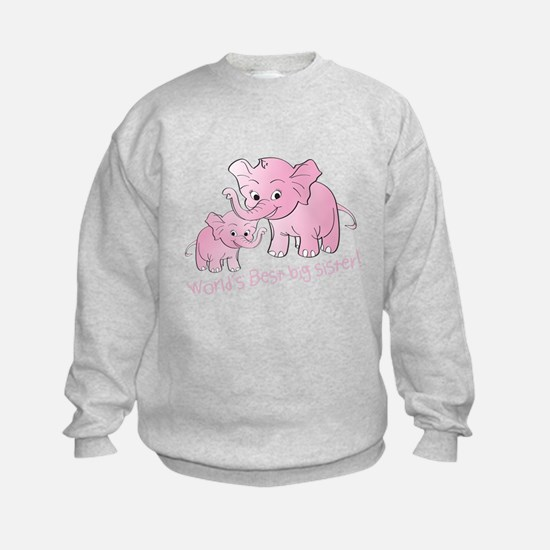 Big Sister & Little Sister Elephan Sweatshirt