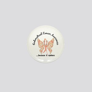 Endometrial Cancer Butterfly 6.1 Mini Button