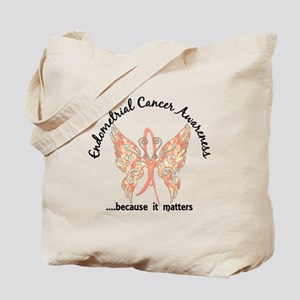 Endometrial Cancer Butterfly 6.1 Tote Bag