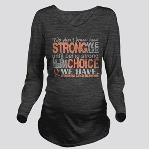 Endometrial Cancer H Long Sleeve Maternity T-Shirt