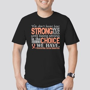 Endometrial Cancer How Men's Fitted T-Shirt (dark)