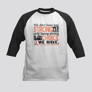 Endometrial Cancer HowStrongW Kids Baseball Jersey