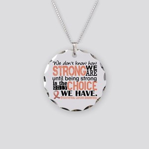 Endometrial Cancer HowStrong Necklace Circle Charm