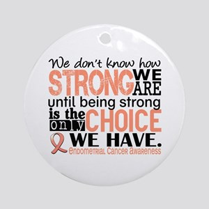 Endometrial Cancer HowStrongWeAre Ornament (Round)