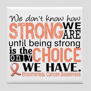Endometrial Cancer HowStrongWeAre Tile Coaster