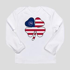 US Flag Clover Long Sleeve Infant T-Shirt
