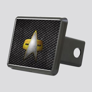 Grunge Starfleet Comm Badg Rectangular Hitch Cover