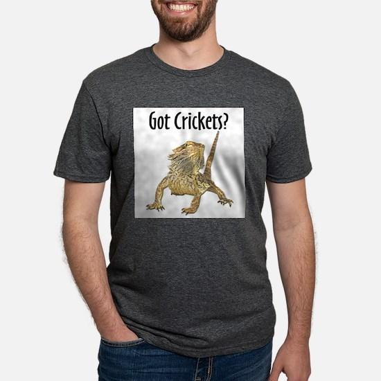 Bearded Dragon Got Crickets Ash Grey T-Shirt
