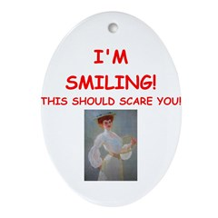 tennis joke Ornament (Oval)