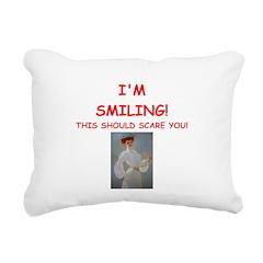tennis joke Rectangular Canvas Pillow
