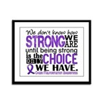Chiari How Strong We Are Framed Panel Print