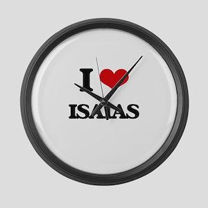 I Love Isaias Large Wall Clock