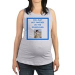 tennis joke Maternity Tank Top