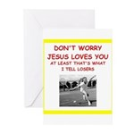 tennis joke Greeting Cards