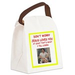 tennis joke Canvas Lunch Bag