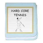 tennis joke baby blanket