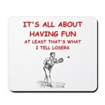 tennis joke Mousepad