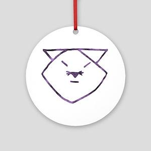 Purple Anime Cats Ornament (Round)