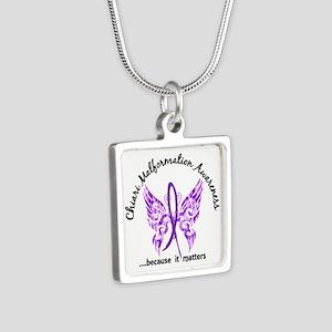 Chiari Butterfly 6.1 Silver Square Necklace