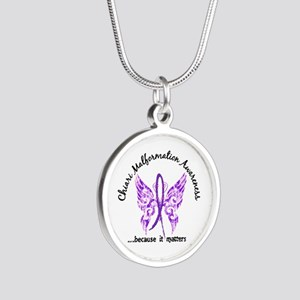 Chiari Butterfly 6.1 Silver Round Necklace