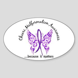 Chiari Butterfly 6.1 Sticker (Oval)