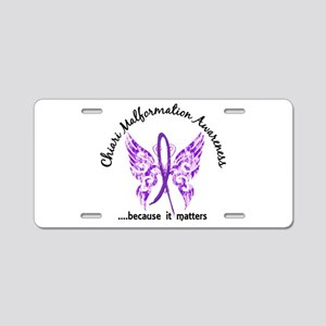Chiari Butterfly 6.1 Aluminum License Plate