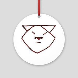 Rose Anime Cat Ornament (Round)