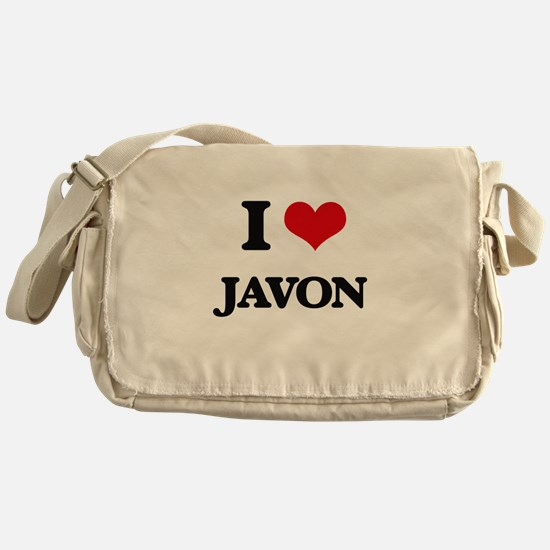 I Love Javon Messenger Bag