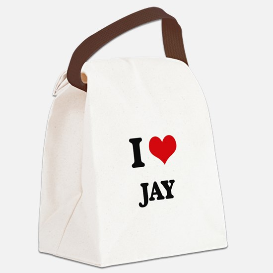 I Love Jay Canvas Lunch Bag