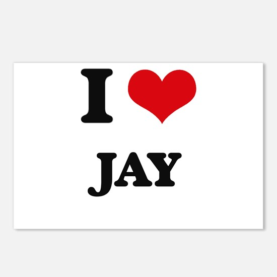 I Love Jay Postcards (Package of 8)